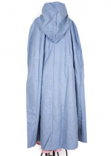 Cloak in pale blue wool