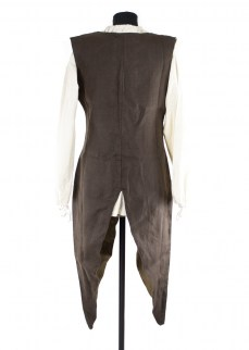 Fantasy vest in dark brown linen