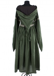 "Fantasydress ""Aurora"" in green/brown cotton"