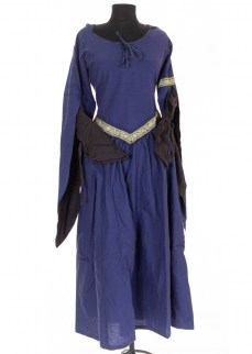 "Fantasydress ""Aurora"" in blue/brown cotton"