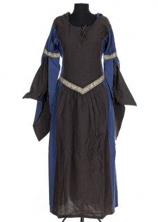 "Fantasydress ""Aurora"" in brown/blue cotton"