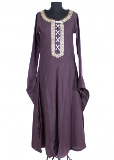 "Fantasydress ""Julia"" in purple cotton/linen mix"