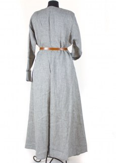 Viking chemise in harringbone linen