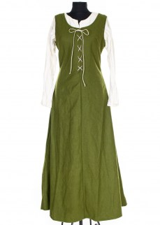 Sleeveless medieval dress