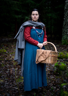 Viking wool apron dress